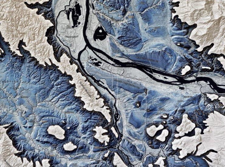 Historic Missoula Flood Levels - Conjunction of the Willamette & CheeAwana
