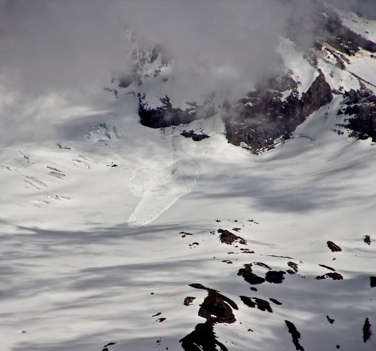 Slab Avalanche on Wy'east - Ladd Glacier