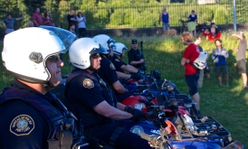 Police threaten campers