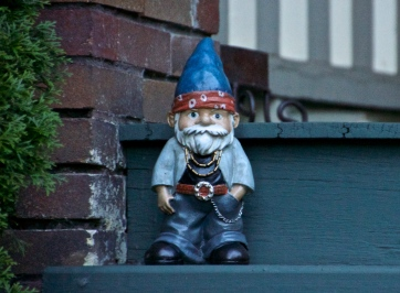 Gnome across the street is upset