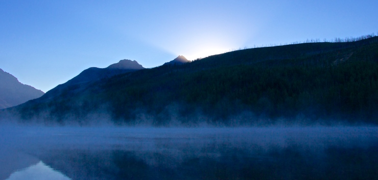 Morning light with Mist on Kintla