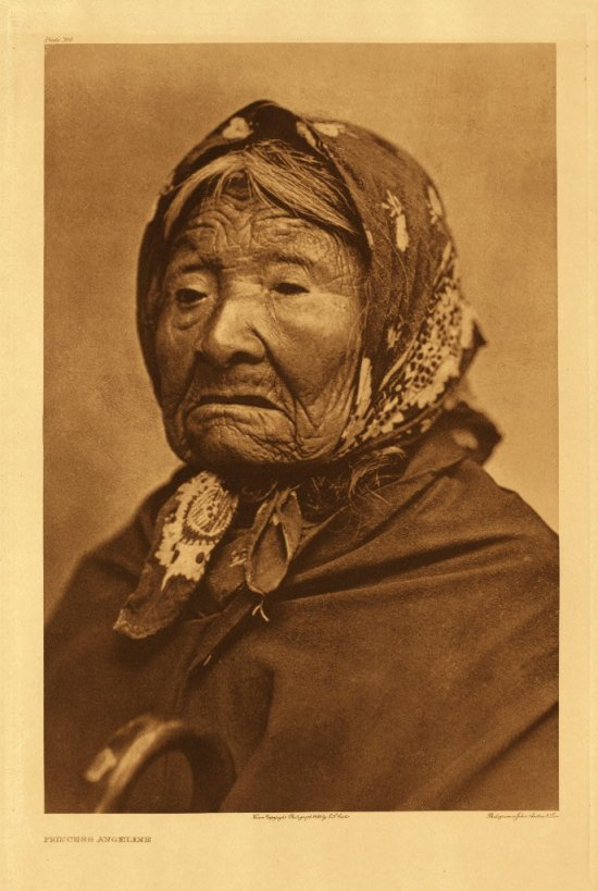 Princes Angeline - Chief Sealths Daughter - The first Native Portrait by Curtis