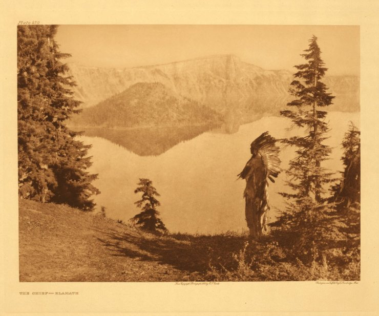 Klamath Chief - Crater Lake - with Mazama Island in Background
