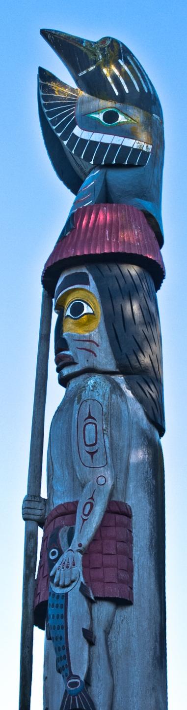 Salmon Fisherman - Knowledge Pole -