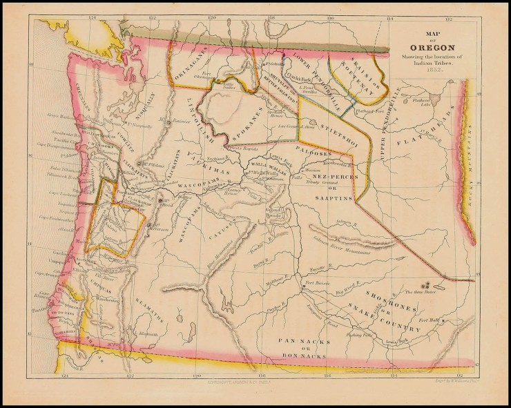 1852 map of oregon territory indian country