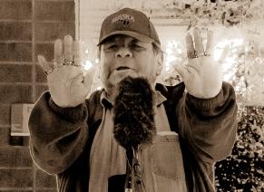 Ed Edmo (Shoshone-Bannock, Nez Perce) closes the festival with a pushing up the sky story.