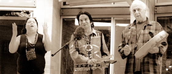 Pamela Coella, Johnny Moses - Whis.Stem.Men.Knee - (Nuu-chah-Nulth, Swinomish, Tulalip &), Bill Chel.Si.Na.Men Cote - Welcome Song