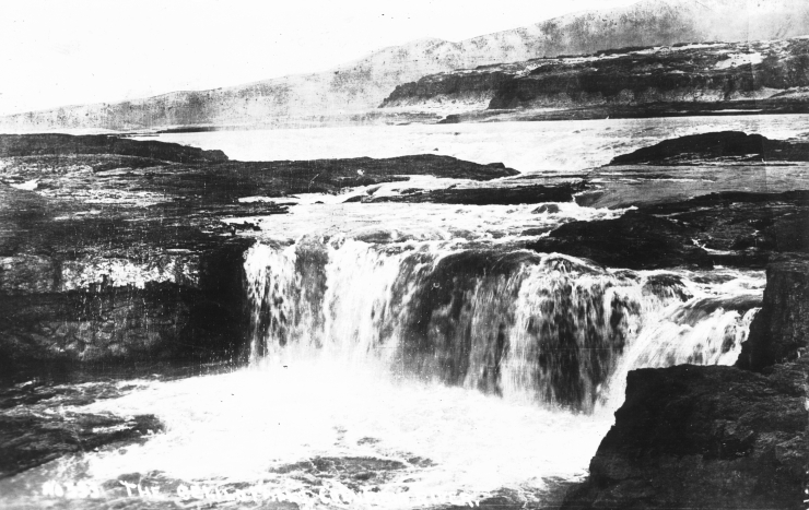 This may be the oldest known photo of Celilo - it could be as old as 1879 according to the University of Oregon Archives