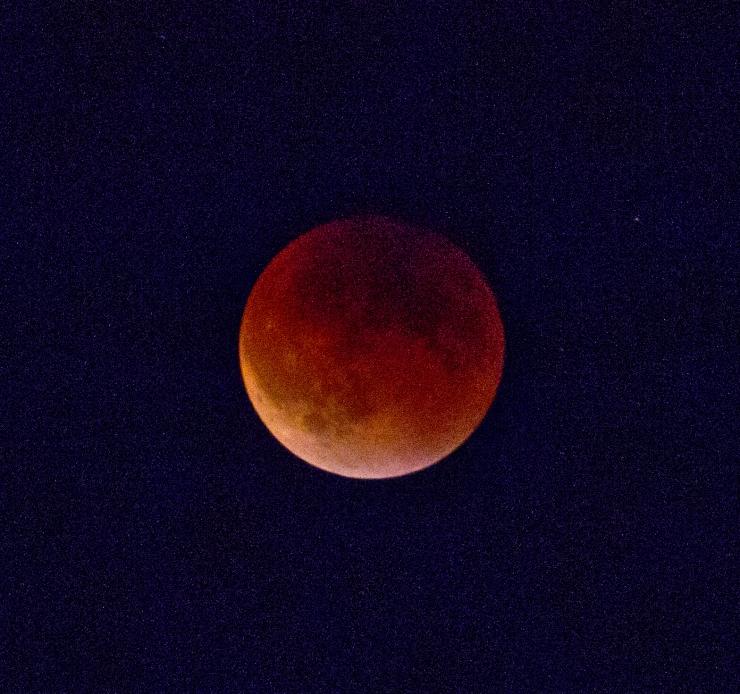 Eclipsed Blood Moon & Stars